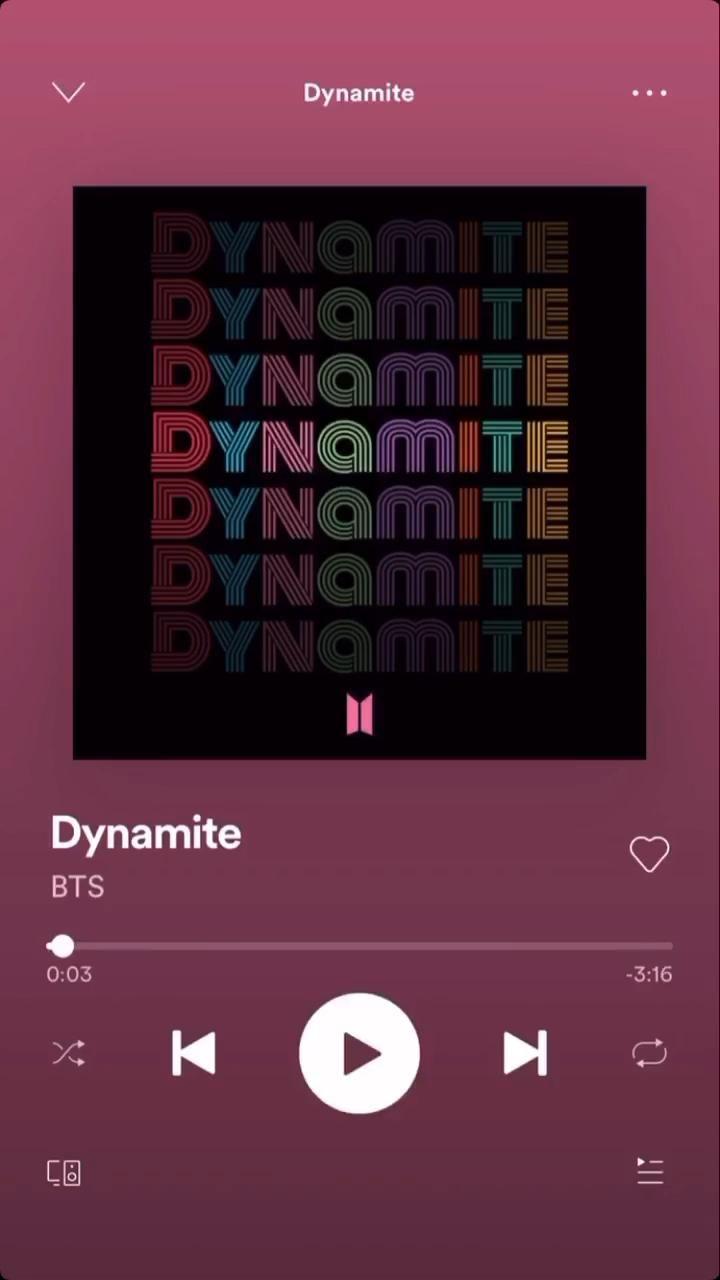 Bts dynamite spotify codes by jollychan02 video video