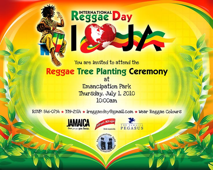 64 best Reggae party theme images – Jamaican Party Invitations
