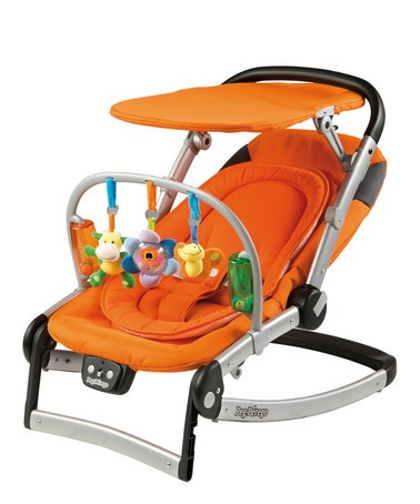 Peg Perego- Makes this Great  New Bouncer that folds FLAT! ! ! I am always looking for easy fold and store away - Atractive Baby Gear.
