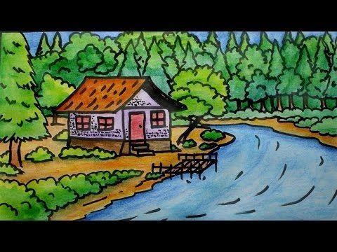 21 Lukisan Pemandangan Gunung Mudah Download Cepat Lukisan Pemandangan Untuk Mewarna Yang Gempak Download Terbaru Lukis Tema Seni Lukisan Cara Menggambar