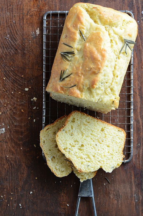 Rosemary and Onion Quick Bread - softly scented of onion and herbs.