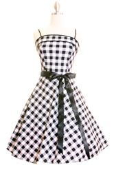 60'ties inspired black and white dress.