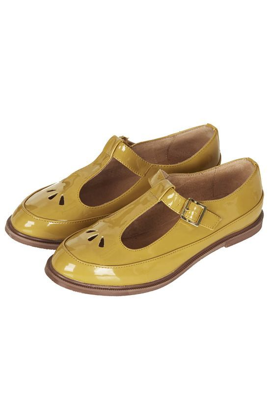 Martie T Bar Geek Shoes In Mustard Fashion Women