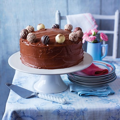 Our easiest-ever chocolate fudge cake is made all in one pan.