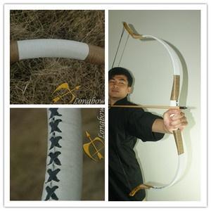 White Handmade Longbow  Flagella MAGYAR Reiterbogen Recurve Horsebow 35 lbs