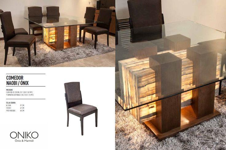 Comedor nix madera encino y cristal 3 elemento que for Comedor de marmol 8 sillas precio