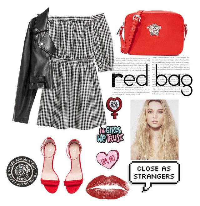 """""""Red bag"""" by yumyv ❤ liked on Polyvore featuring Versace, SKINN and Silver Spoon Attire"""
