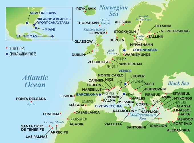 Decisions Decisions Decisions Europe Map Of Port Cities Amp Cruise Destinations My Dream