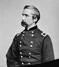 Joshua Chamberlain achieved fame at the Battle of Gettysburg where he and the 20th Maine valiantly defended Little Round Top  -- Courageous