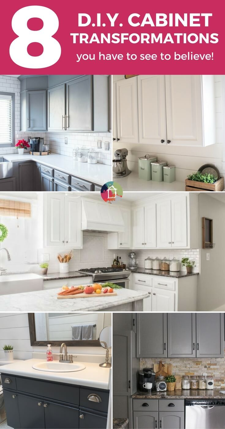 These 8 successful cabinet transformations are proof that you can paint your kitchen cabinets and love the results! Learn about the best paint for kitchen cabinets and see the amazing transformations for yourself.