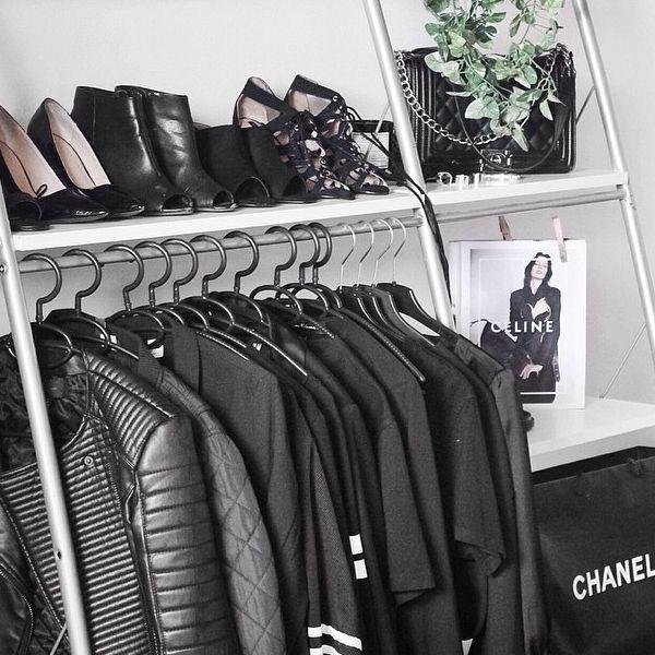 A portion of a NYC Fashionista's uniform - black!
