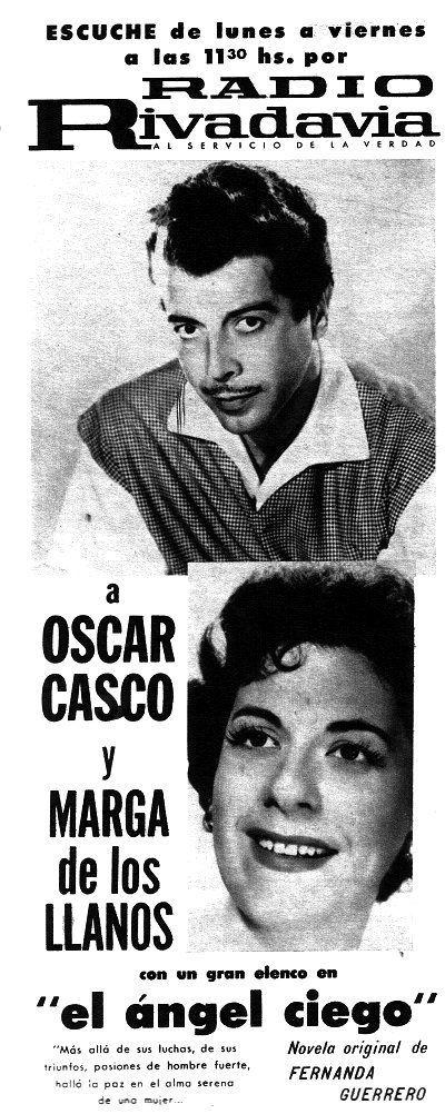 Publicidad de programación de RADIO RIVADAVIA, Buenos Aires, 1962.