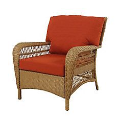 $248 on clearance in Halifax. Charlottetown Patio Chair in Natural with Quarry Red Cushions