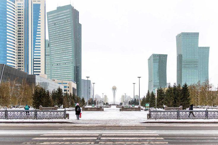 """Wide streets and futuristic buildings define Astana, Kazakhstan's purpose-built capital."""