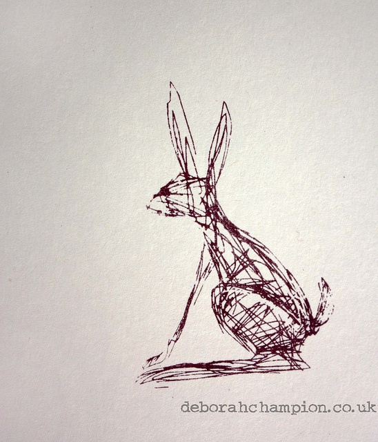 Hare - simple sketch using scratchy line of different thickness
