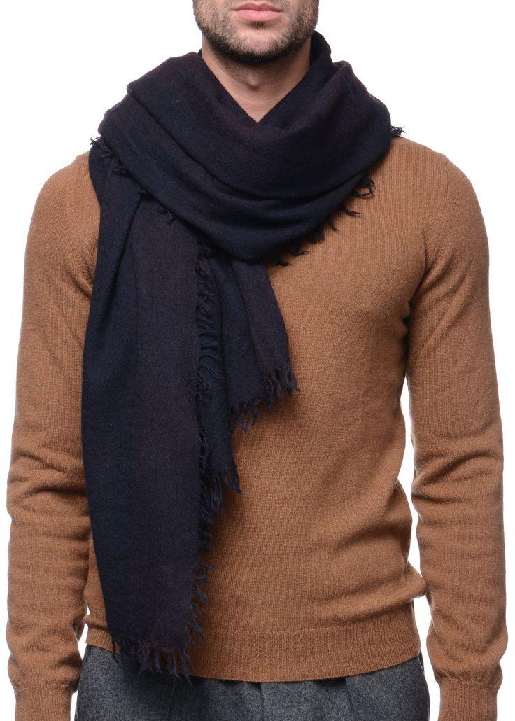 Federico Curradi - FW16- Menswear // Purple checkered scarf in wool and silk