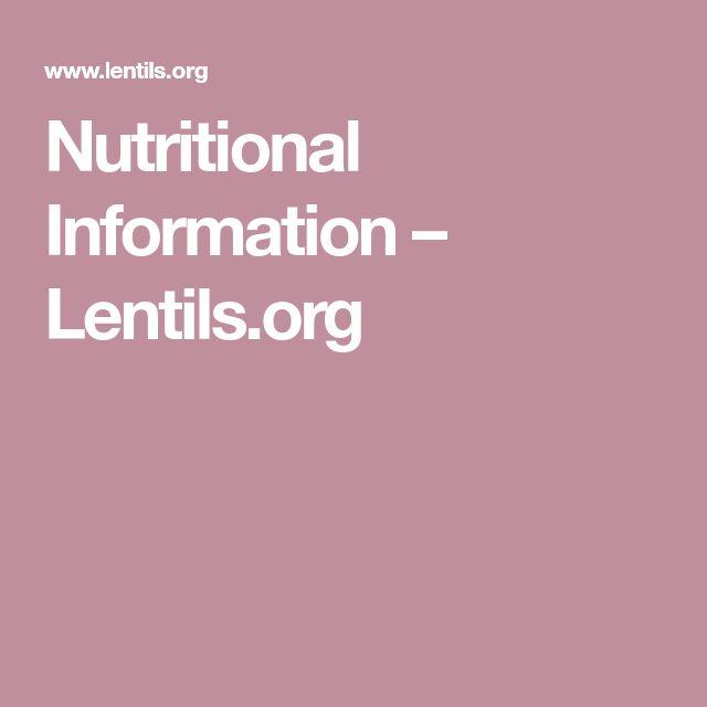 Nutritional Information – Lentils.org