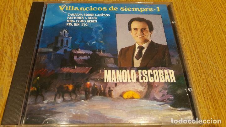 MANOLO ESCOBAR / VILLANCICOS DE SIEMPRE / VOL 1. / CD / DIVUCSA - 1991 / 12 TEMAS / LUJO.