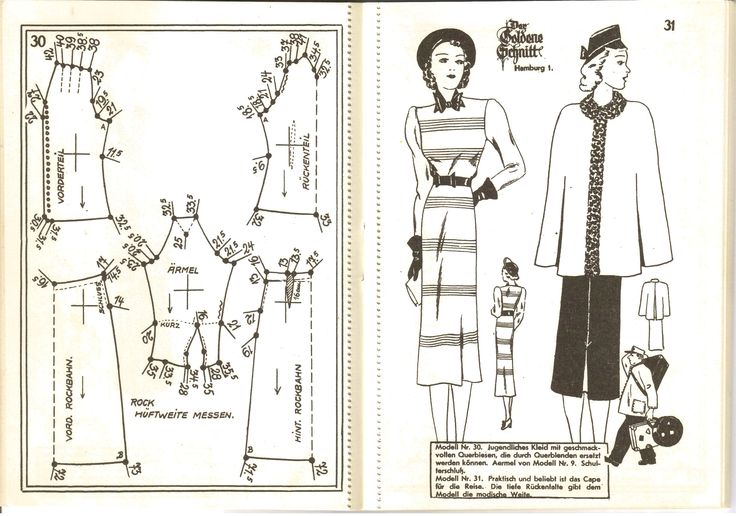 Lutterloh 1939 Book Of Cards -  Models Diagram Card Page 30 & 31