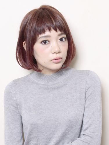 大人のボブ「ガーリー×ヌケ感」 adorable short bangs