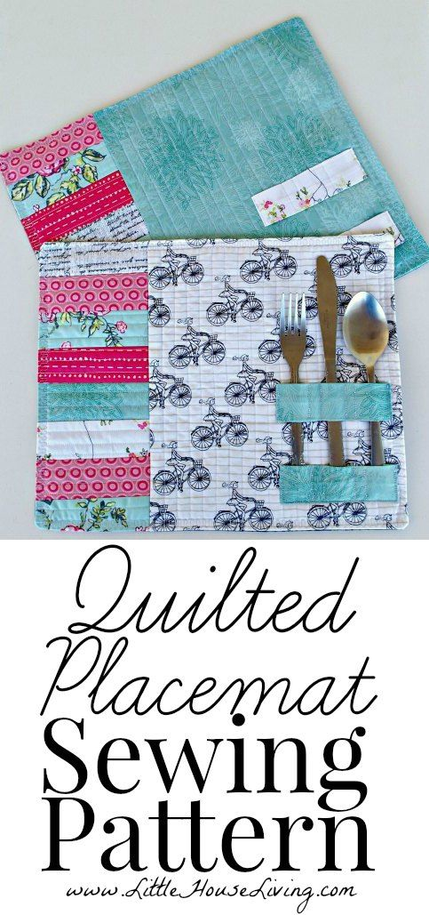 Easy Quilted Placemat Pattern & Tutorial. So cute and simple to make! Perfect winter project.