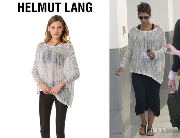 Fashion Trends: Halle Berry's Helmut Lang Marled Pullover