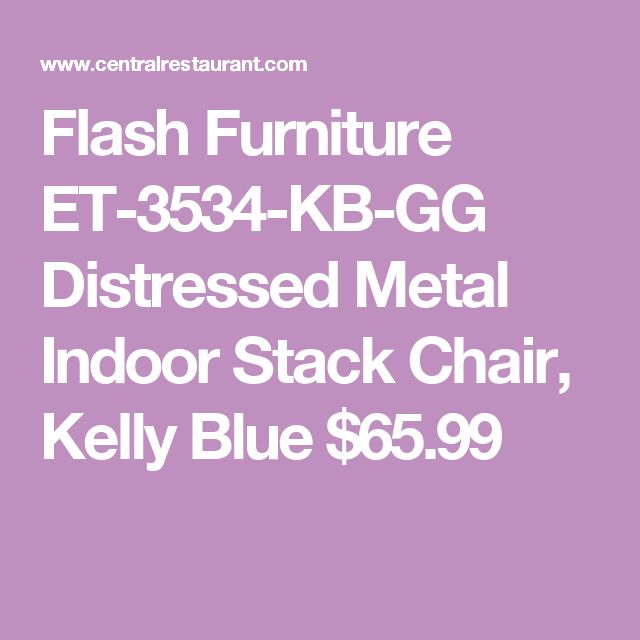 Flash Furniture ET-3534-KB-GG Distressed Metal Indoor Stack Chair, Kelly Blue $65.99