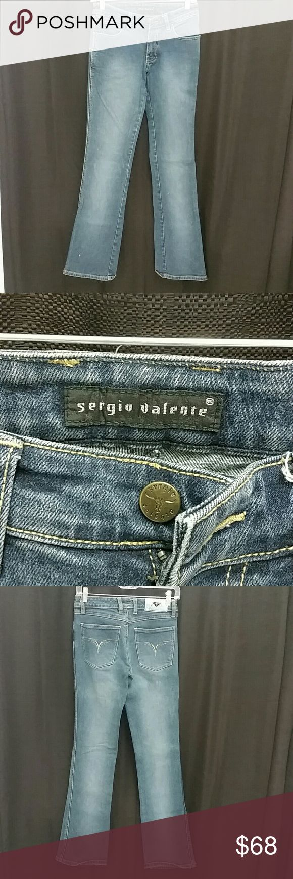 Sergio Valente Boot cut denim jeans. Sergio Valente Boot cut denim jeans. Looks sexy with stilettos. Can be dressed up and down. Has a little stretch. Comes from a smoke free, pet free, clean home. The back tag is worn but name is still there. Sergio Valente Jeans Boot Cut