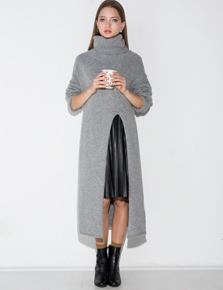 1000  ideas about Long Sweater Dress on Pinterest | Knits ...
