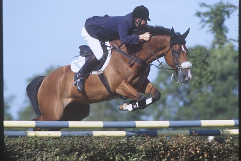 Michael Whitaker and Everest Midnight Madness, winners of the King George V Gold Cup, 1992