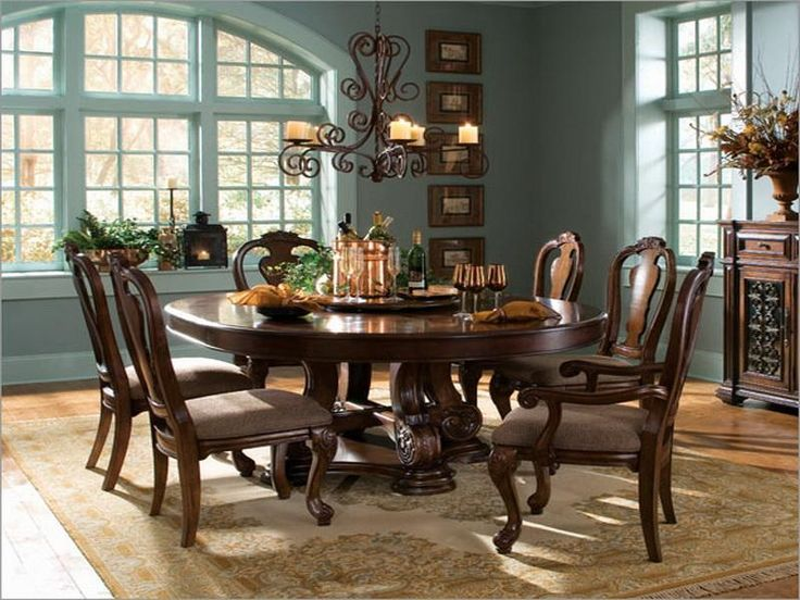 Round Dining Room Tables For 8  Dining Furniture  Pinterest Custom Round Dining Room Table Seats 8 Design Decoration