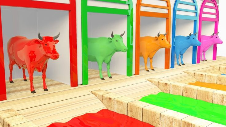 Colors Learn With Cow Transport Trucks for Kids