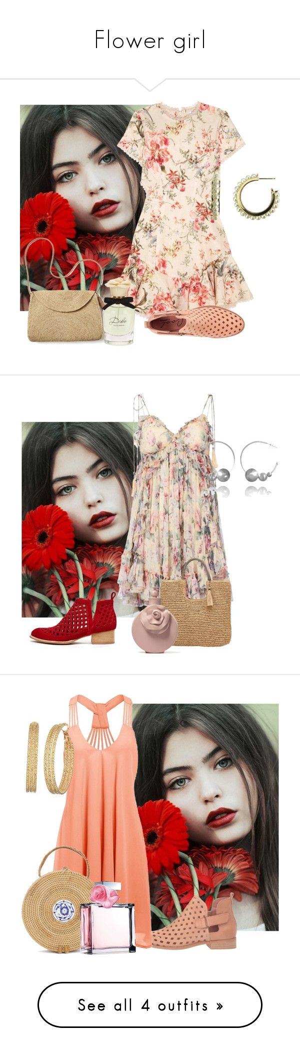 """""""Flower girl"""" by sofiacalo ❤ liked on Polyvore featuring Zimmermann, Coolway, Mar y Sol, Dolce&Gabbana, Jeffrey Campbell, John Lewis, GUESS, Ralph Lauren, 10 Crosby Derek Lam and Marc Jacobs"""