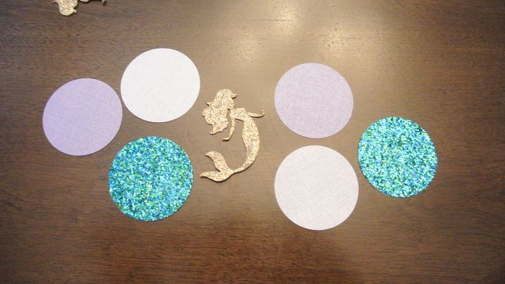 Mermaid Confetti. Handcrafted in 1-3 Business Days. 50CT. Mermaid Party Decorations by Paper Rabbit by PaperRabbit87 on Etsy