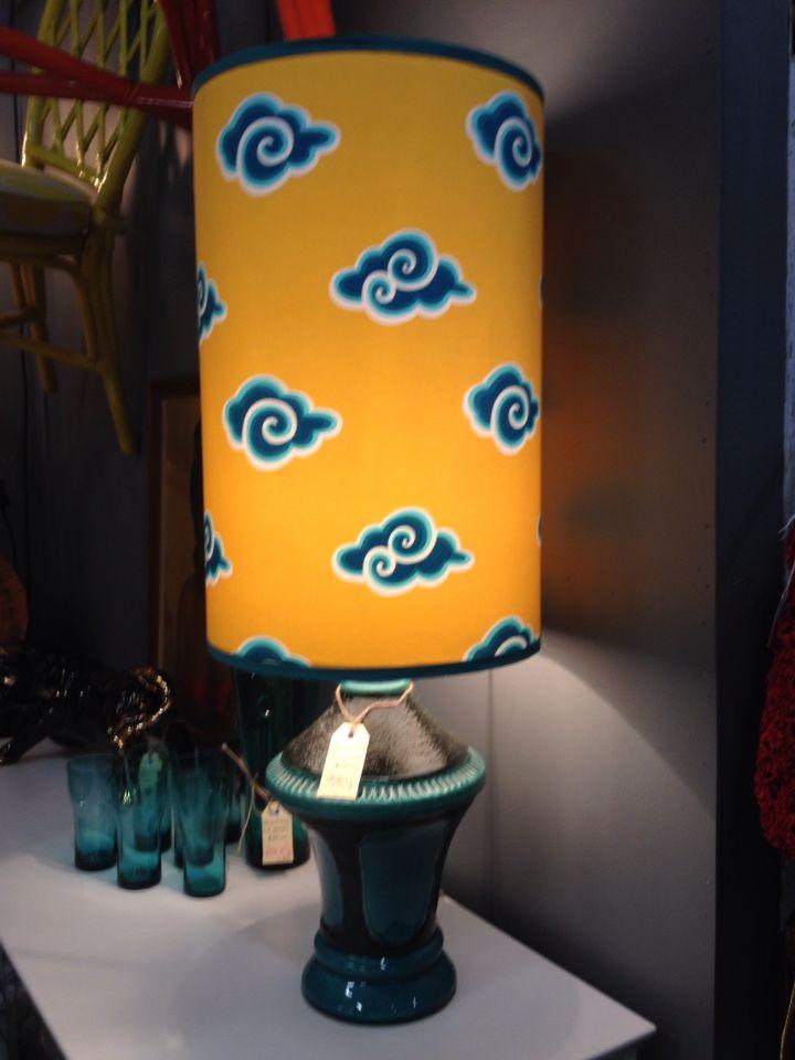 Retro italian lamp. New shade.
