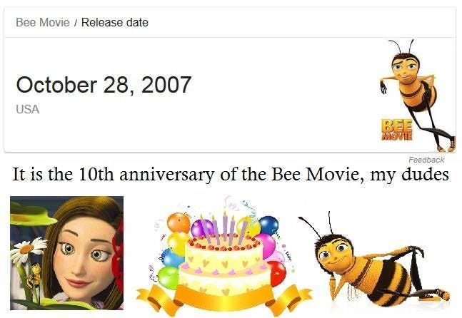 Fun Fact As A Child I Saw The Bee Move In The Theaters And Went