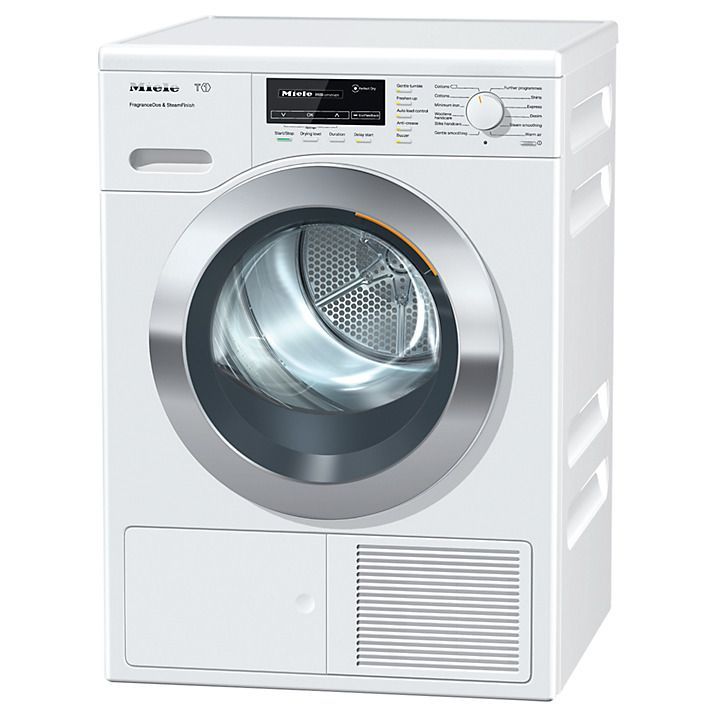 Buy Miele TKG 440 WP Heat Pump Tumble Dryer, 8kg Load, A+ Energy Rating, ChromeEdition Online at johnlewis.com