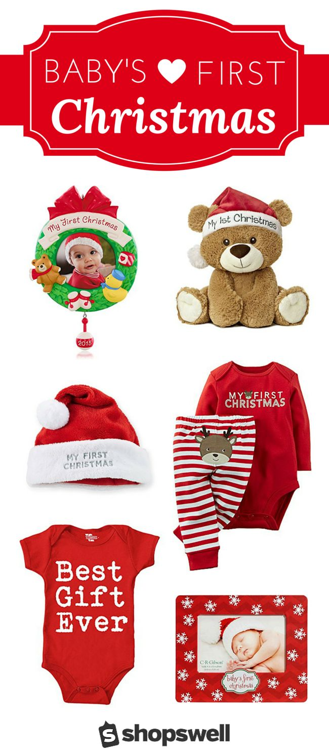 Will this be your baby's first Christmas? Make sure you have these fun - photo worthy - clothes and gifts on hand for your little one.