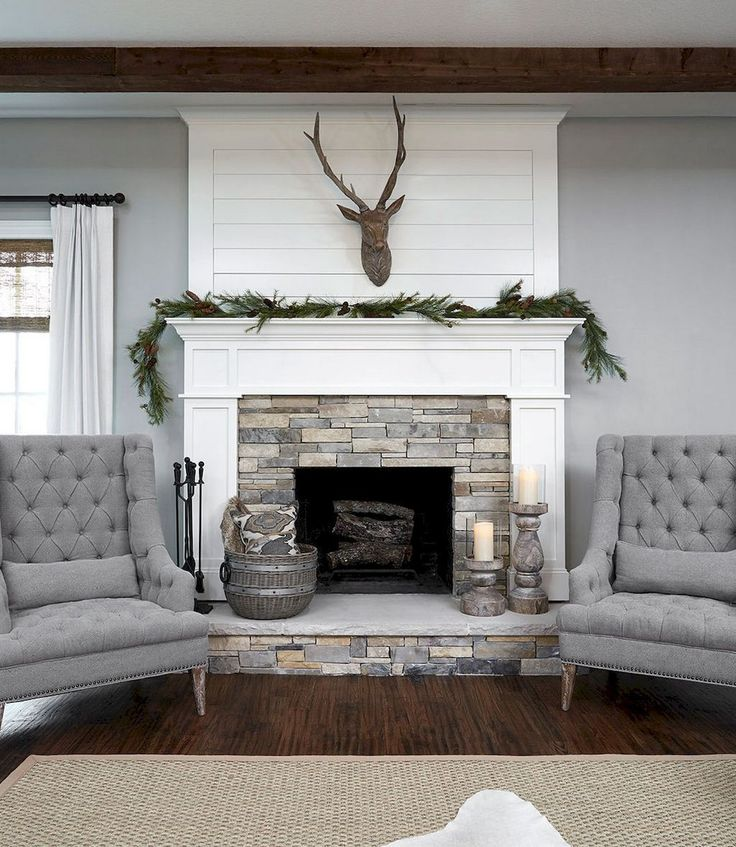 Modern Home Design Ideas Gray: Modern Farmhouse Fireplace Design Ideas