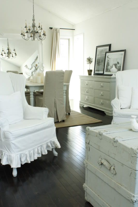 painted furniture, slipcovers