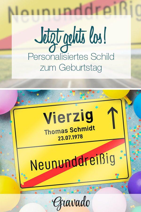 Personalisiertes Ortsschild Zum Geburtstag 40 Jahre