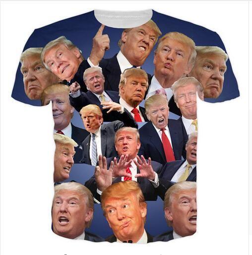 T-shirt hip hop trump 3d slim fit merk clothing casual Streetwear Heren T-shirts Mode 2017 Donald Trump Fitness Jersey S-5XL