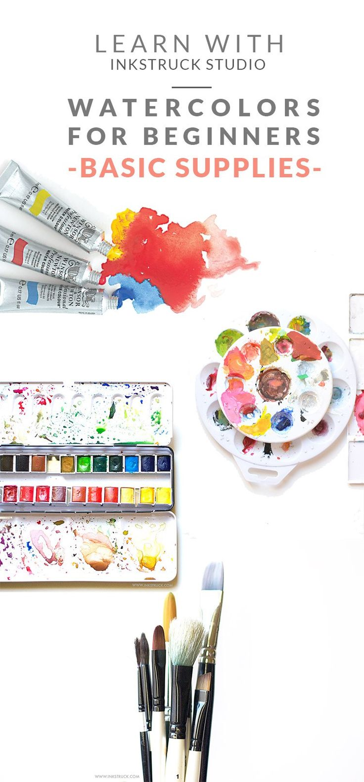 Watercolor books for beginners - Watercolors For Beginners Basic Supplies
