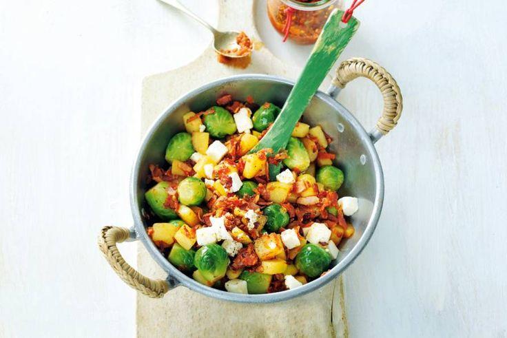 27 november - Spruitjes in de bonus - Echt snel: je hoeft maar 1 ingrediënt te snijden - Recept - Allerhande