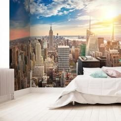 New York City Skyline Carta da parati Autoadesiva