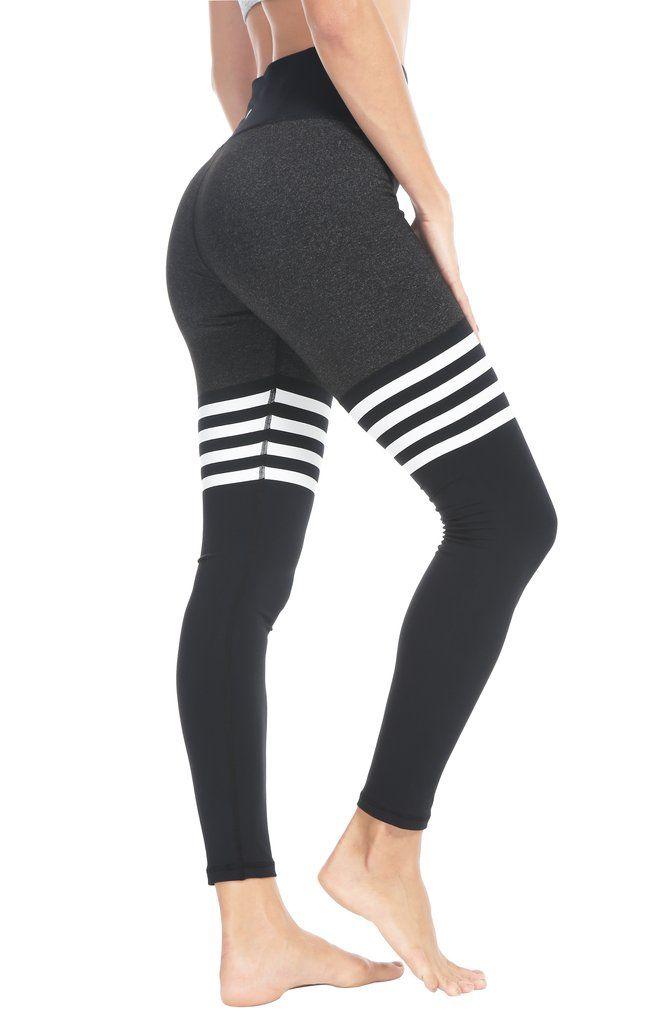 c02dd571c3763 Queenie Ke Women Yoga Leggings Knee-high Sock Pants Workout Running Tights