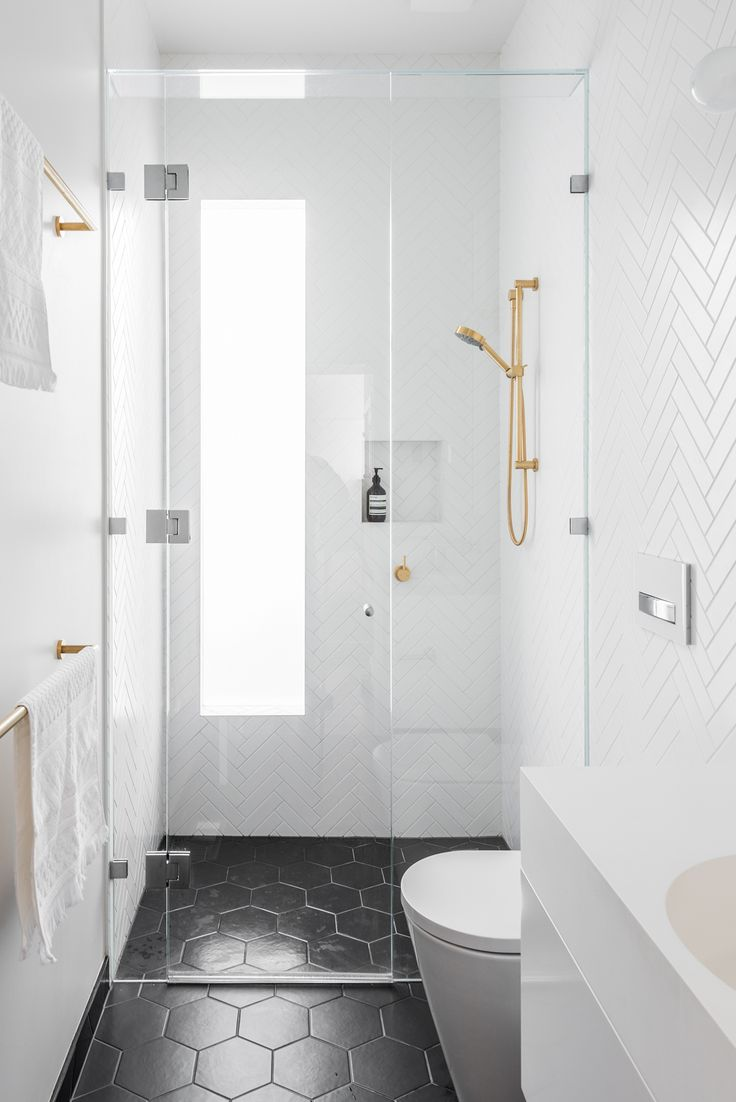 eat.bathe.live :: contemporary bathroom design with brass accents
