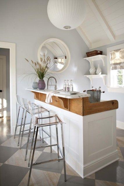 Stylish And Inviting, #interiordesign Portable Bar, Home Bar Design, Bar  Stools,