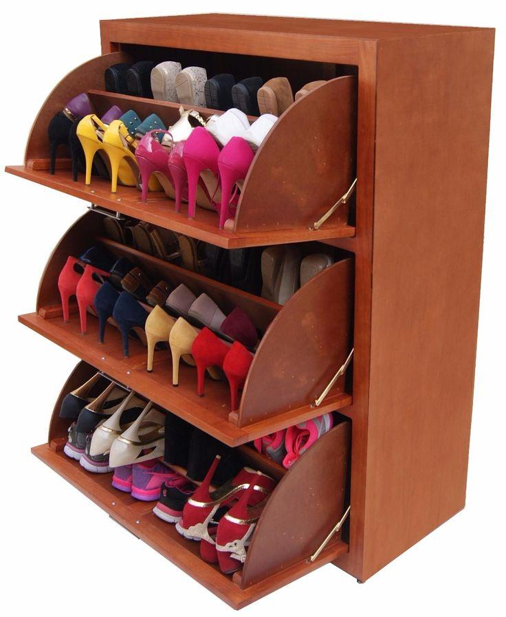 M s de 25 ideas incre bles sobre mueble zapatero en for Mueble para guardar zapatos madera