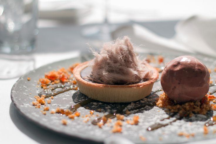 A lavish chocolate tart from the kitchen at Rydges Mount Panorama Bathurst.